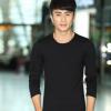 男式韩版纯色纯棉上衣打底衫