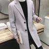 韩版修身毛呢大衣