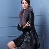 女装韩版时尚真皮绵羊皮大衣