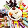 俄罗斯紫皮糖混装散装糖果进口果仁巧克力