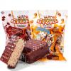 俄罗斯进口巧克力小牛威化饼干办公室零食小食品