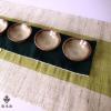 传统手工夏布麻布茶巾茶布禅意茶垫茶席茶垫子包邮 壁挂装饰36cm