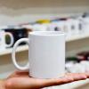 陶瓷杯 新品创意情侣咖啡杯 促销礼品热转印马克杯定制 涂层杯子