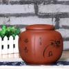 大号宜兴紫砂茶叶罐 普洱茶罐 手工散茶罐 储饼罐紫砂茶缸