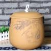 大号普洱罐包邮宜兴紫砂茶叶罐普洱茶罐散茶罐茶缸 7饼茶缸茶缘