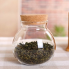 批发玻璃茶叶罐储物罐 微观生态瓶 圆形密封罐软木塞收纳罐子