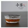 日式津轻小雪品茗杯功夫茶具初雪茶杯耐热小玻璃杯子水晶建盏品杯