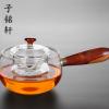 厂家直销玻璃茶具 小青柑煮茶器 电陶炉专用木把壶 侧把煮茶神器