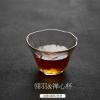 出口日本 东篱玻璃茶杯品茗描金边功夫茶具 手工透明耐热磨砂加厚