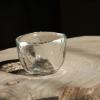 出口日本玻璃杯 品茗锤纹茶具功夫抹茶杯 透明加厚主人杯