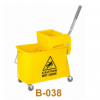 超宝20L升轻便式单桶榨水车商场地板清洁桶拖把挤水车桶B-038