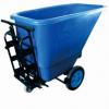 超宝皓天手推式倾卸斗车B-110B 350L垃圾车 环卫保洁车手推斗车