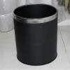 单层垃圾桶不锈钢黑色杏色烤漆酒店客房桶房间桶卫生桶 垃圾筒