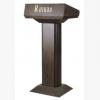 黑胡桃木色会议演讲桌礼宾台宣传咨客台接待台前台