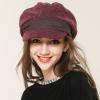 帽子女秋冬韩版潮贝雷帽秋天女士时尚鸭舌帽冬天毛呢八角帽渔夫帽