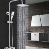 花洒 浴室淋浴龙头方形三功能花洒套装三档淋浴花洒龙头花洒套装