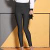 Y2018春季新款高腰铅笔裤竖条纹梭织外穿打底裤女 大码弹力裤