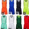 团队定制印字印号球衣队服个性两侧口袋青少年儿童男女篮球服套装