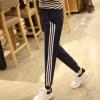 17新款春秋女装长裤子女式跑步运动裤女学生弹力休闲裤瘦腿小脚裤