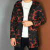 男士风衣中长款韩版修身外套连带帽春秋青少年大衣学生薄款迷彩潮