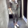 男式运动服潮流2018夏季新款韩版时尚男士七分裤套装厂家直销外贸