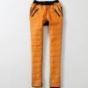 冬季新款韩版女装松紧腰拼接休闲羽绒裤0422 039