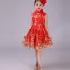 批发儿童旗袍古装连衣裙 公主蓬蓬纱裙子女童礼服 女孩演出表演服