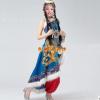 2014新款藏族舞蹈演出服装 宝蓝色藏族舞蹈服装女 民族舞蹈服装