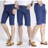2018外贸新款男式牛仔中裤地摊批发韩版修身七分牛仔裤一件代发