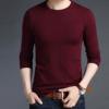 2018春季时尚休闲男装 男士长袖针织衫 新款男式圆领套头针织毛衣