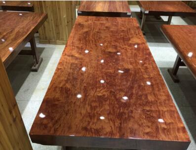 巴花精品纹路实木原木大板 餐桌茶桌茶几会议桌厂家直销现货定制