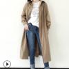 2018春季新款轻熟风衣女韩国防风百搭过膝外套 韩国东大门气质
