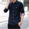 2018新款男士衬衫青年休闲时尚舒适潮流曰常百搭男式衬衣一件代发