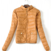 冬装新款女装韩版荧光色立领轻薄型羽绒服1313 04