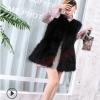 厂家直销2018秋冬新款皮草外套女装修身中长款狐狸毛皮草马甲背心