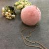 2016新款进口女士獭兔球包包珍珠包圆形包皮草包单肩包