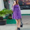 新款韩版皮草 女装羊羔毛皮草外套中长款修身特价批发
