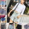 2018夏季女式新款超短牛仔裤女装短裤爆款韩版破洞锥形热裤外贸