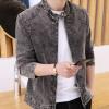 新爆款男士高棉时尚休闲夹克男装2018春秋季韩版修身立领外套男潮
