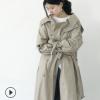 2018女装风衣 韩国东大门新款中长款流行双排扣薄款女式风衣大衣