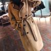非皮毛一体女大衣中长款新款皮草羊剪绒羊羔毛长款羊毛皮草2017新