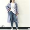 外套女春秋百搭2018女装风衣女 韩国东大门中长款休闲双排扣女装