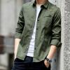 2018春秋新款男式纯棉长袖衬衫韩版修身青年春季男装衬衣休闲风格