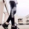 韩国潮牌两腿鹰大飞鹰老鹰修身显瘦薄款打底裤外穿女士长裤春秋