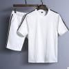 2018夏季男式新款短袖短裤运动套装男青少年韩版修身时尚百搭T恤