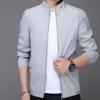 2018春季新款立领男士夹克商务休闲薄款青年男夹克衫男装外套修身