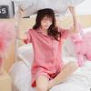 实拍2018夏季韩国宽松短袖短裤格子睡衣两件套百搭休闲家居服套装