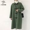爆款 2018年秋冬韩版女装羊绒大衣 双面 牛角扣羊毛大衣毛呢外套