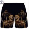 男女创意沙滩裤运动透气网短裤3d数码印双层搞笑恶搞情侣弹性网裤