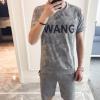 男式休闲套装韩版2018新款夏季短袖T恤男5分裤两件套运动套装迷彩
